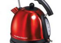Beautiful Hamilton Beach 40894 red tea kettle on white background